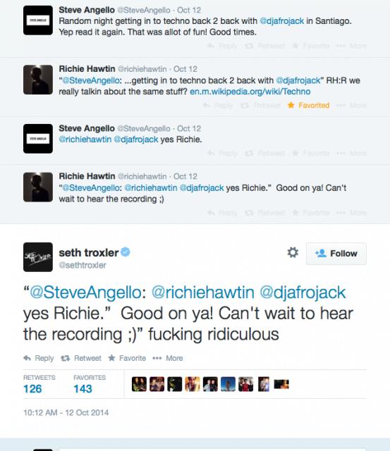 Seth Troxler le dice Ridículo a Richie por dañar el soul del Techno