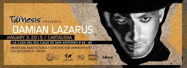 Profile: Damian Lazarus ( Éste Sábado 3 de Enero en LA CASA DEL SOL Cartagena )