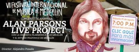 Alan Parsons Live Project por primera vez a Medellín gratis a las 7:00pm