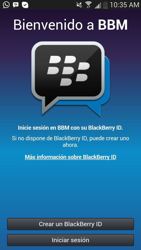 A partir de HOY!! Blackberry Messenger en dispositivos Android