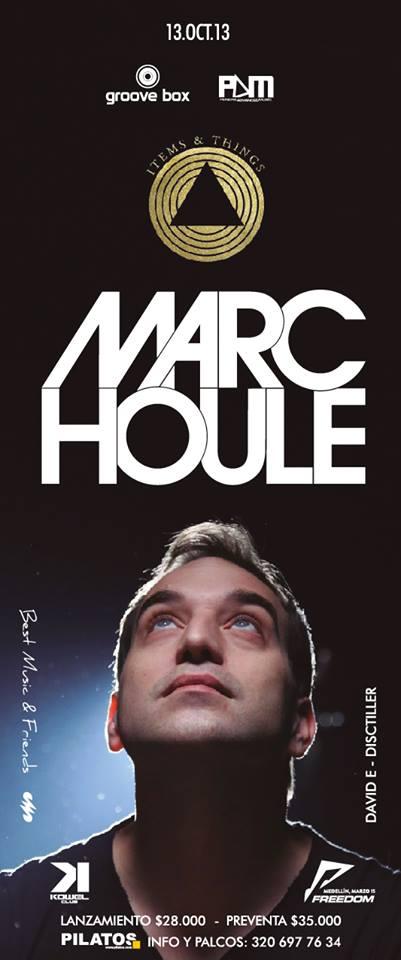 GrooveBox presenta MARC HOULE en Manizales éste Domingo 13 de Octubre