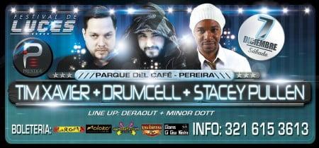 Sponsored: FESTIVAL DE LAS LUCES! TIM XAVIER - DRUMCELL - STACEY PULLEN, 7 de Dic en Pereira!