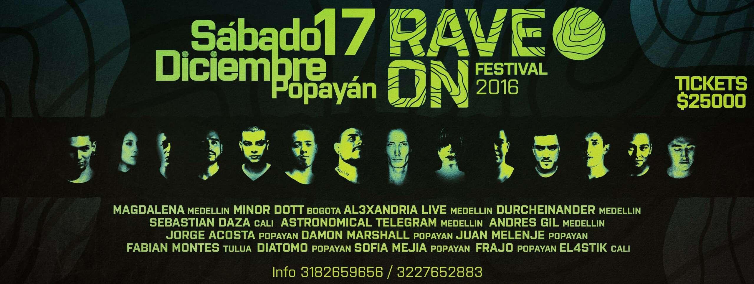 Rave On Festival Popayán 2016 se une a una buena causa.