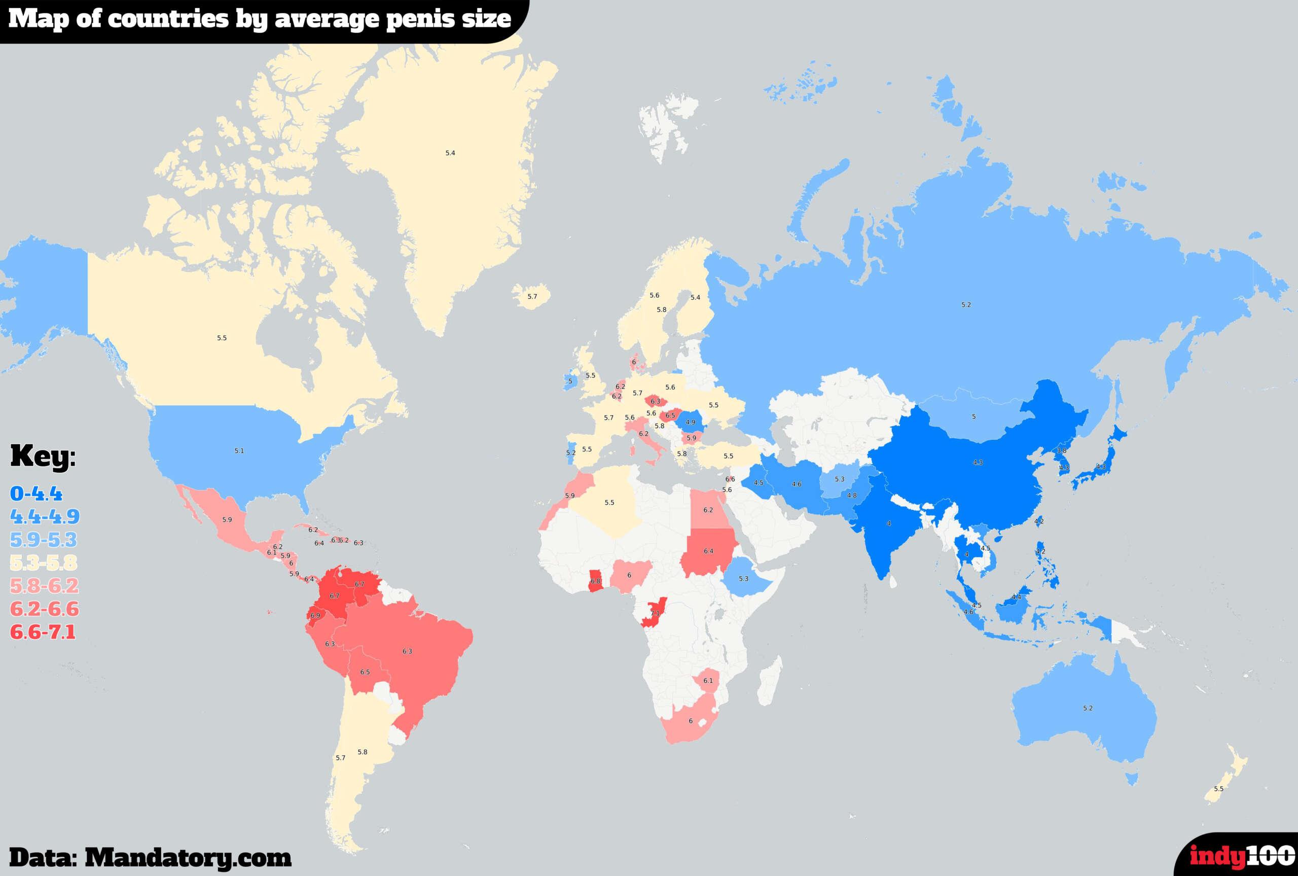 Top 10 de los Países con los Penes más Grandes del Mundo, No te va a Sorprender.