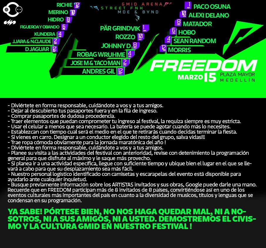 FREEDOM! A Domicilio GRATIS en Medellin 3004885656