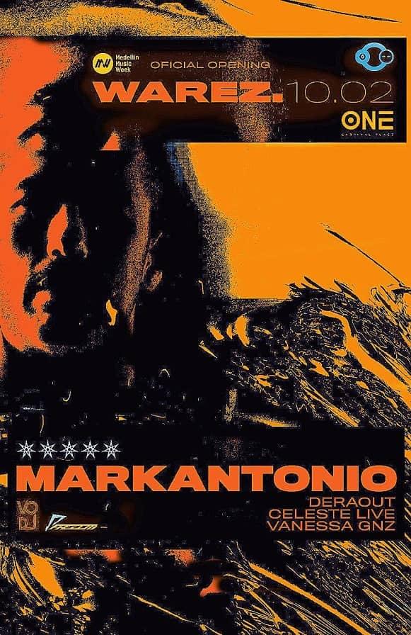 MARKANTONIO y el Opening de la Medellín Music Week a 45000 hasta Septiembre 19