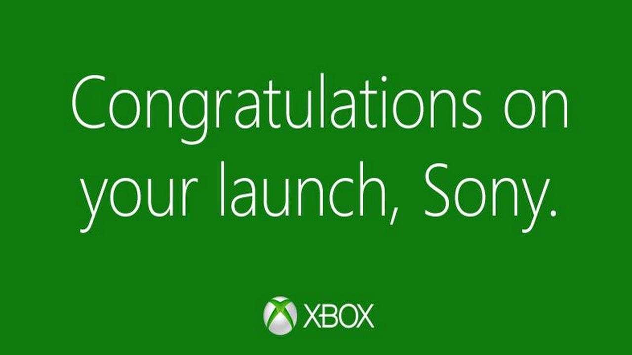 Felicitaciones por el lanzamiento del PS4! - XBOX