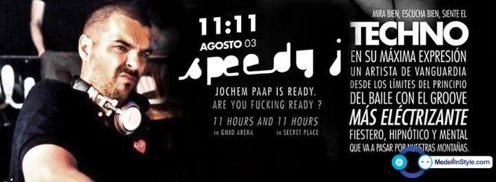 NEXT! TECHNOFERIA SPEEDY J @ ESTE SÁBADO EN EL GMID ARENA (ANTIGUO FORUM) FIESTA & BAILE HASTA LAS 8 AM ¡¡¡