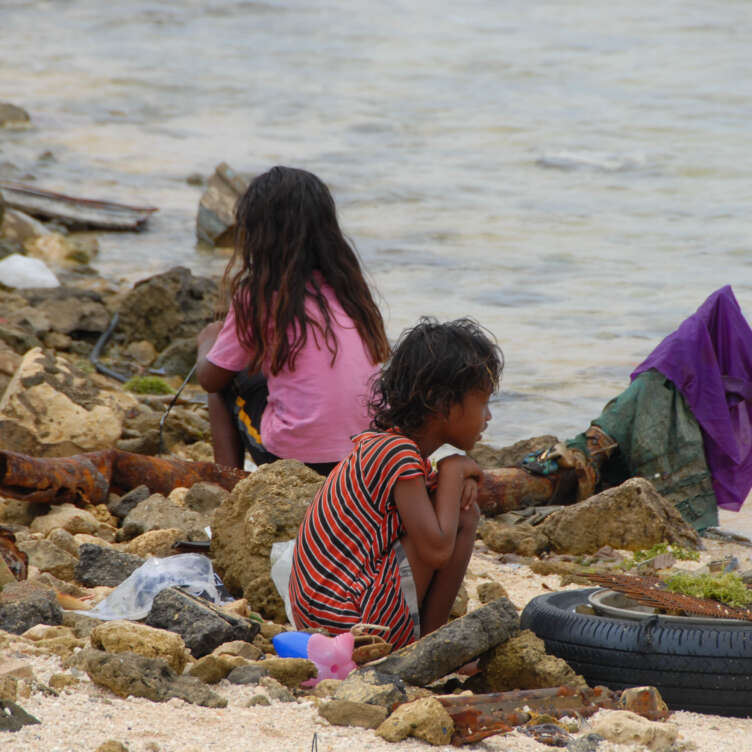 5. children of Ebeye and garbage