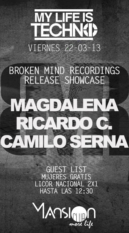 Sponsored: My Life Is Techno / Broken Mind Recordings Release Showcase @ Mansion HOY