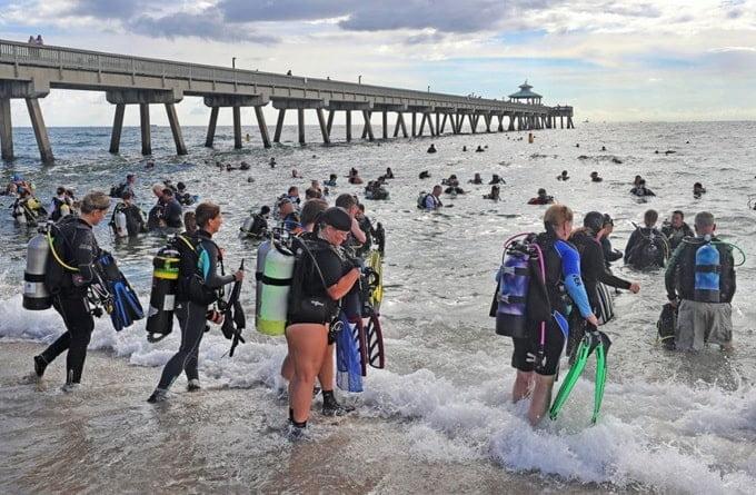 Admirable: 633 buzos rompieron el récord de limpieza marina más grande del mundo