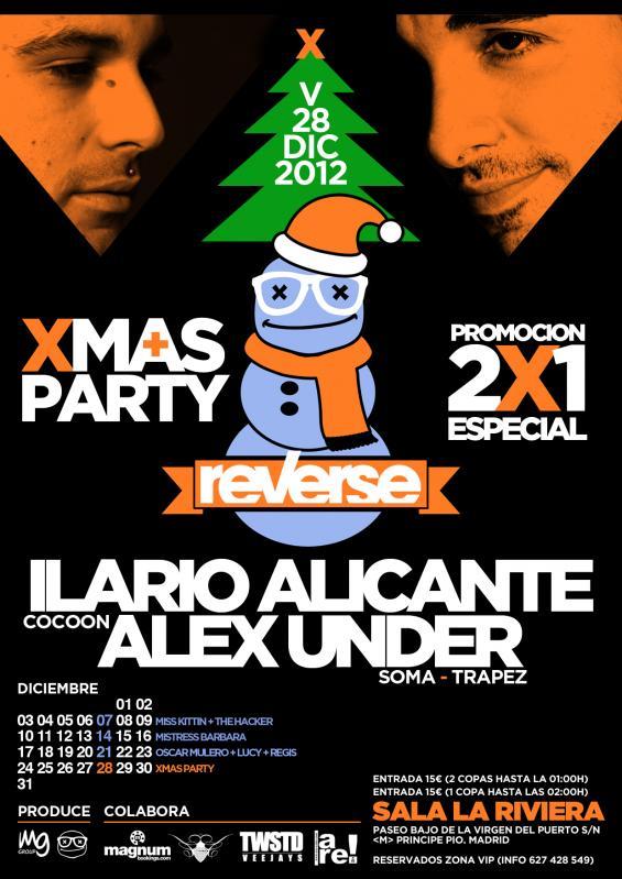 Alex Under e Ilario Alicante celebran la Navidad en Reverse