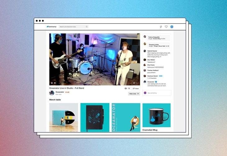 ¿Sabia que ya puede hacer streaming en Bandcamp y vender entradas y merch?