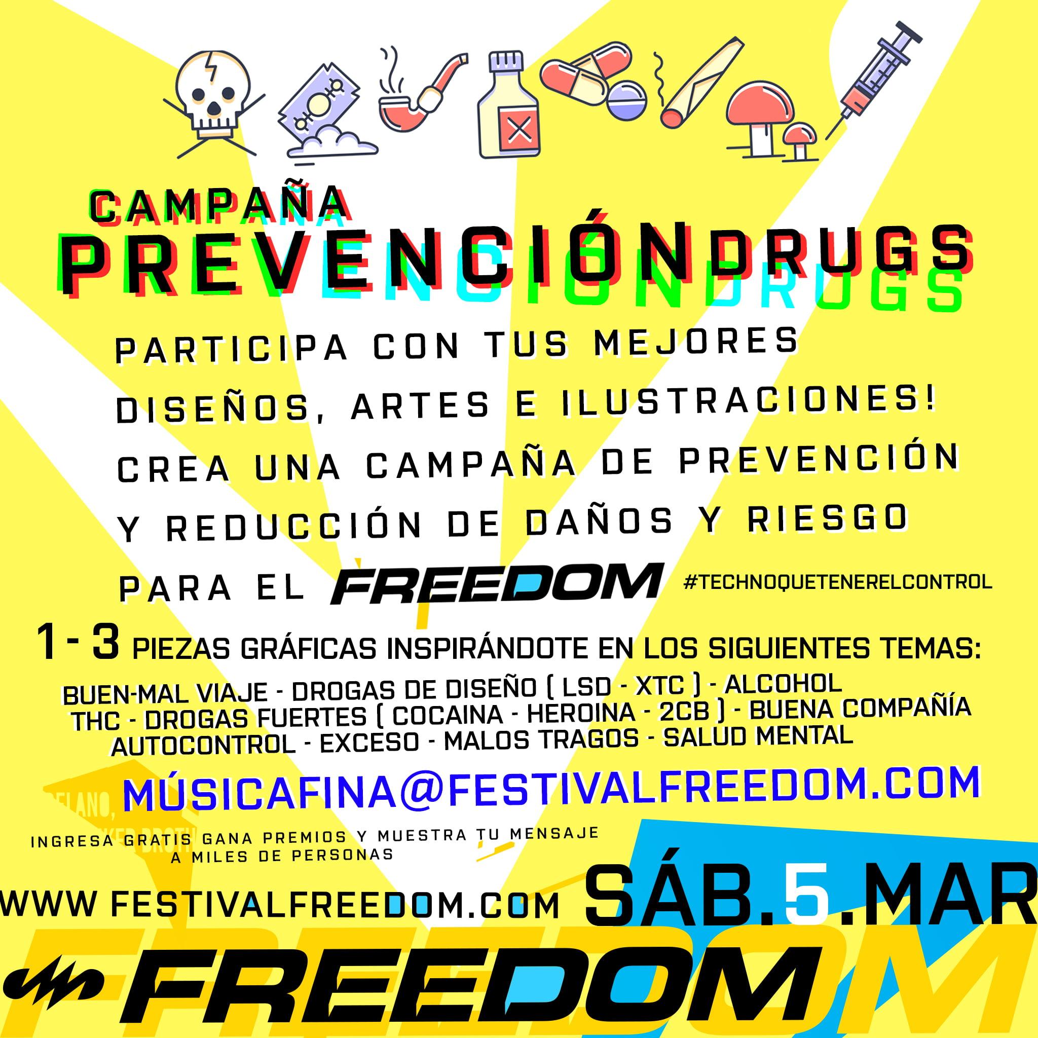 CONVOCATORIA ARTÍSTICA: Campaña de Prevención de DRUGS