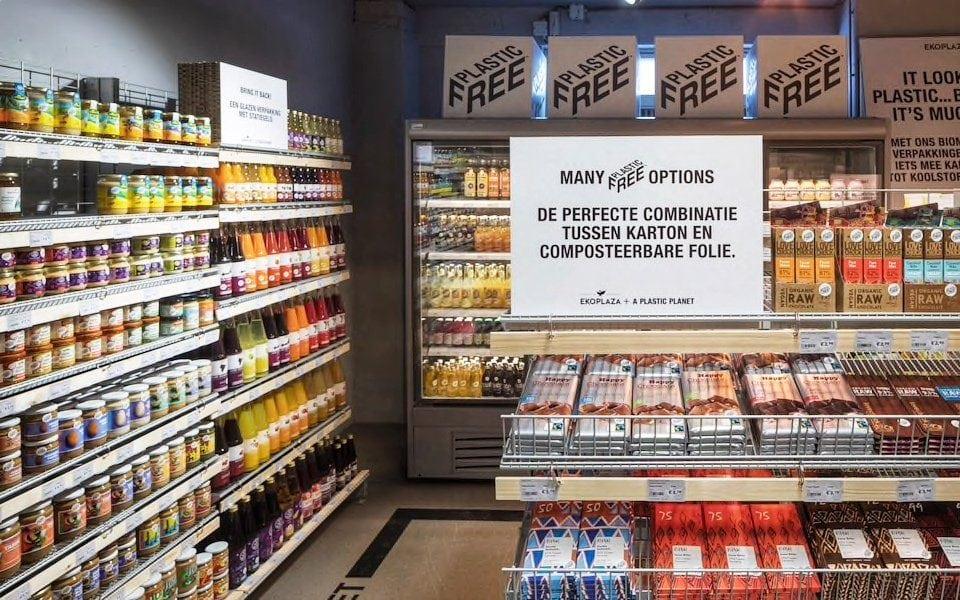 En Ámsterdam abren el primer supermercado del mundo libre de plásticos