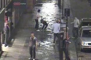 David Goodwillie's 4am city centre street fight