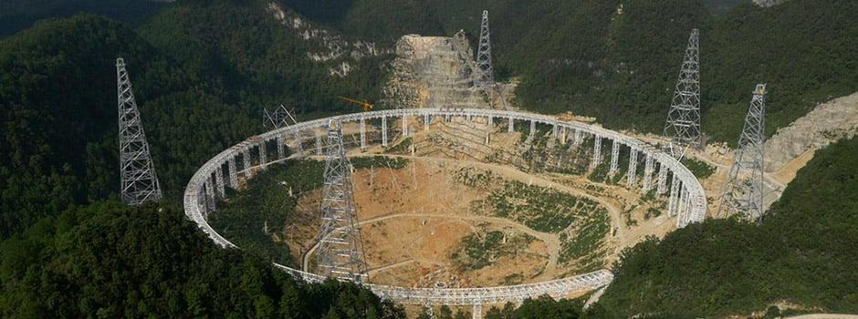 Al aire video del Telescopio más grande del mundo construído en China