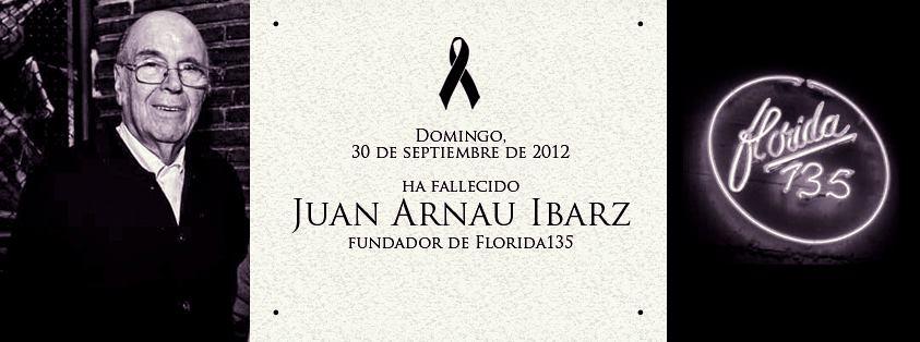 Fallecido Juan Arnau Ibarz