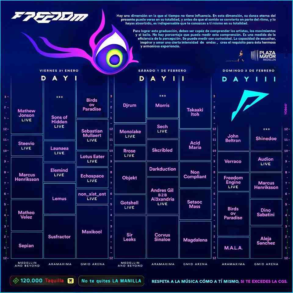 Freedom 2020 Lineup