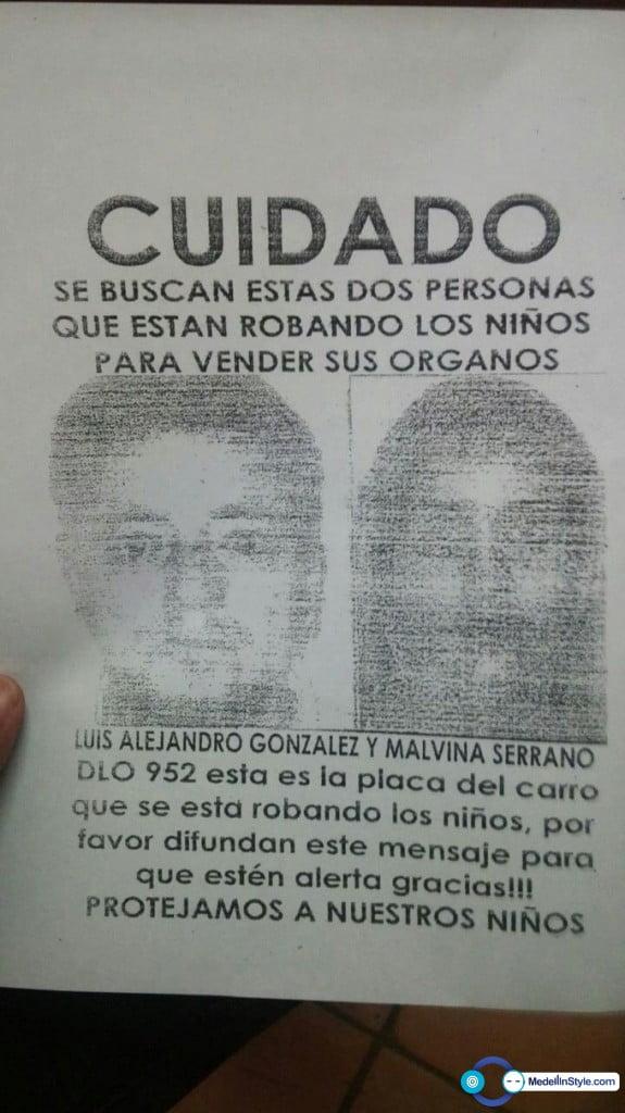 Información sobre presunto robo de órganos de niños en Medellín es falsa