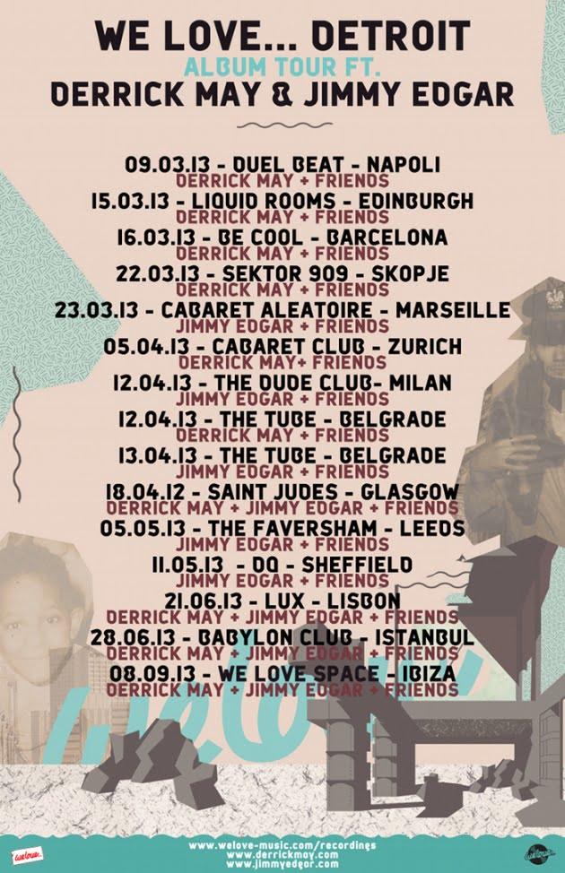 Jimmy Edgar y Derrick May presentan We Love Detroit Tour