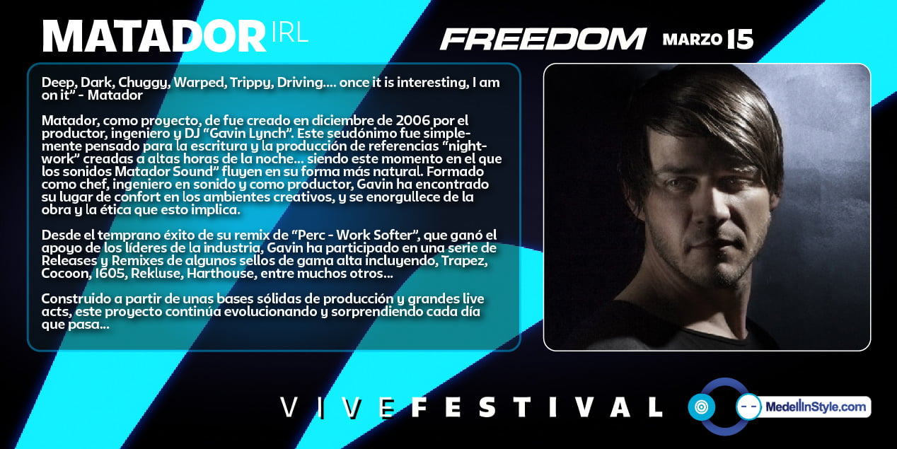 FREEDOM: MATADOR #vivefestival - Marzo 15, PLAZA MAYOR