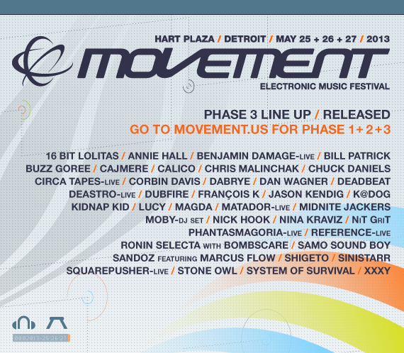 Movement Electronic Music Festival 2013 confirma todo su Line Up