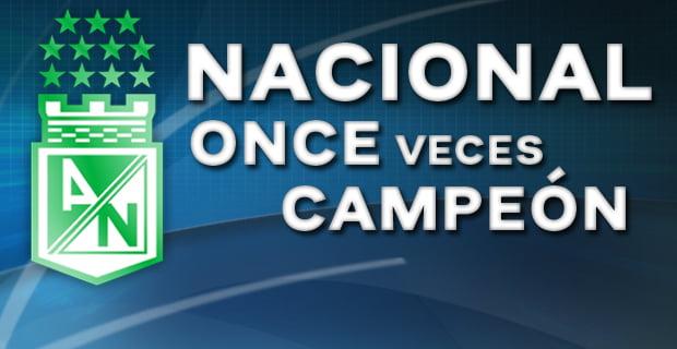 Atlético Nacional Campeón LIGA POSTOBON! Ésta es su 11ava Estrella