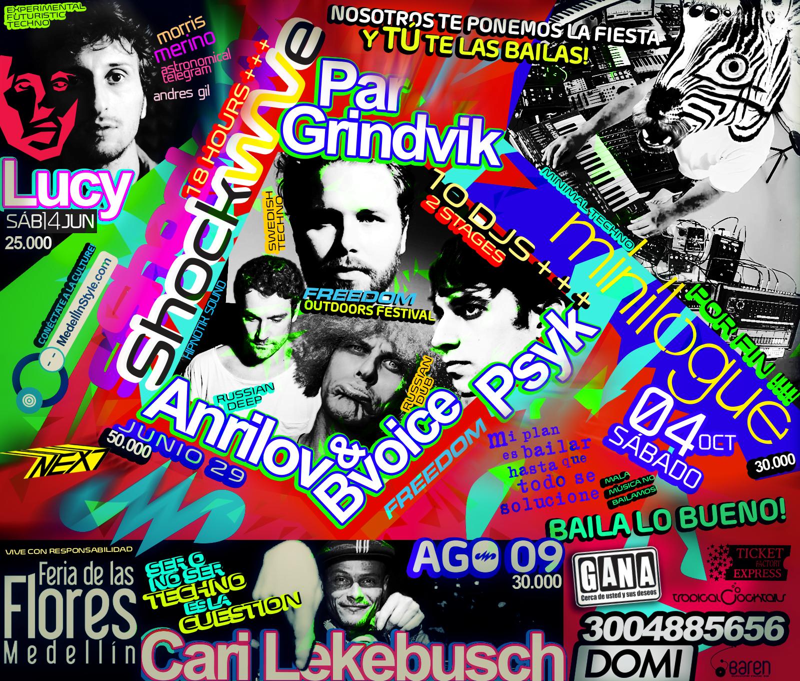 Llama YA! 3004885656 tus boletas para Lucy, Shockwave, Cari Lekebusch a DOMICILIO !