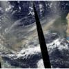 Ésta es la foto satelital de la Bruma del Sahara que pasó por el Valle de Aburrá