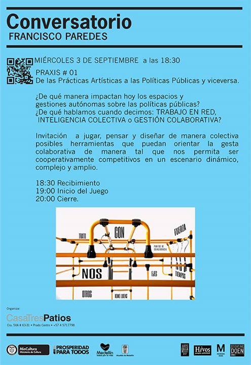 TALLER GRATIS: Conversatorio – Prácticas artísticas y las políticas públicas