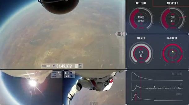 Video inédito del salto de Felix Baumgartner