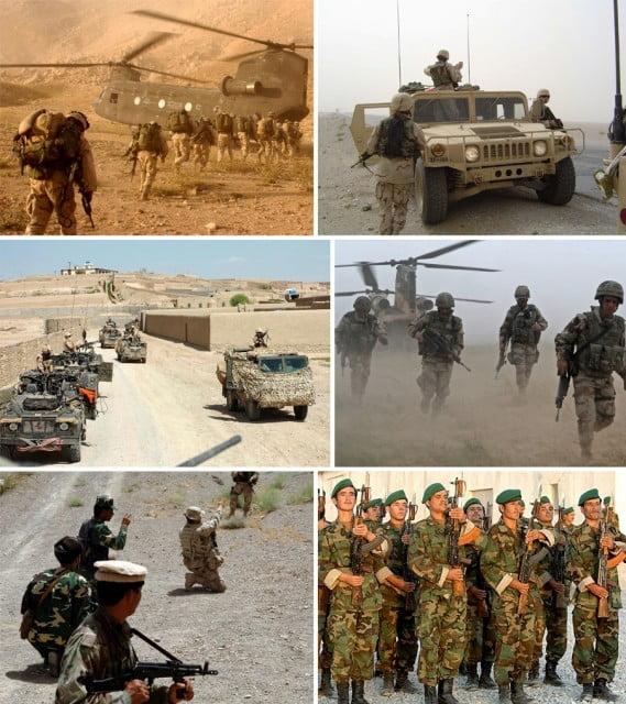 War in afganistan 2001   mural
