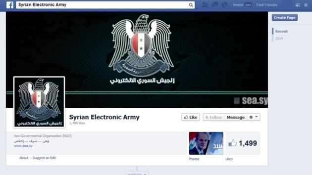 """""""Feliz cumpleaños Mark!"""": El Ejército Electrónico Sirio se apodera del dominio de Facebook"""