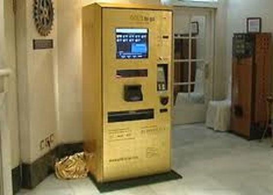 El cajero que dará oro en vez de billetes