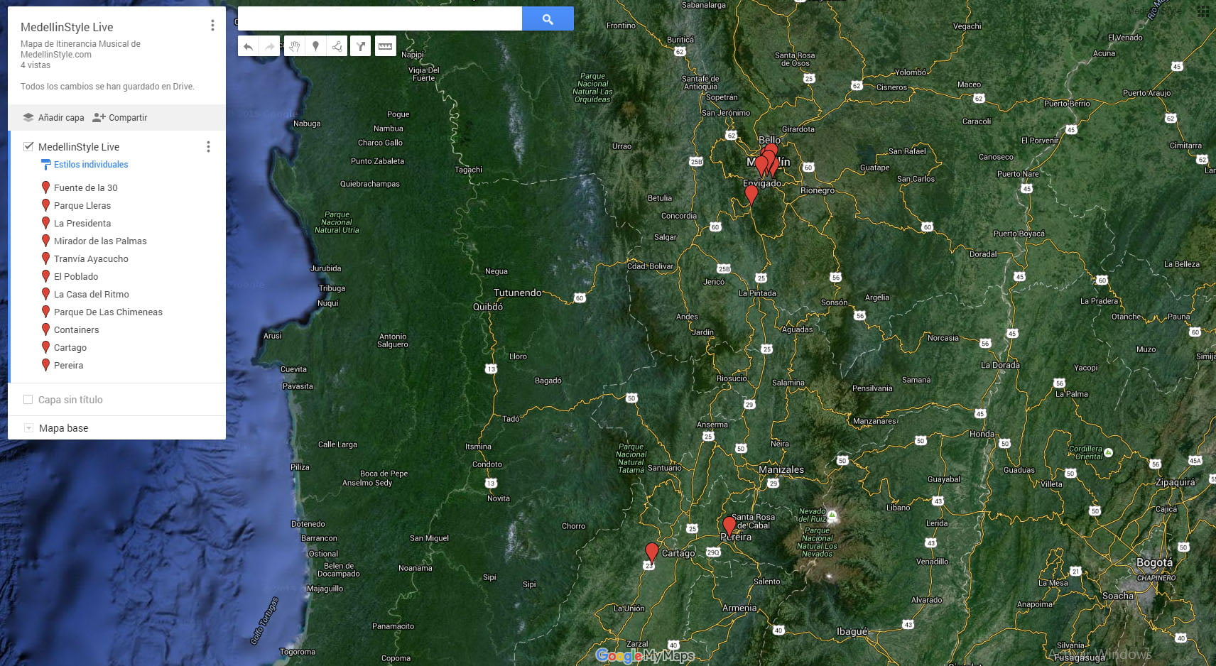 MedellinStyle Live: Mapa de Música ITINERANTE