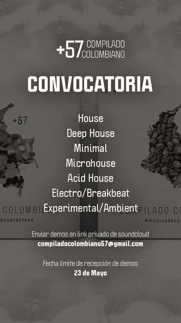 Compilado Colombiano +57: Convocatoria nacional de música electrónica