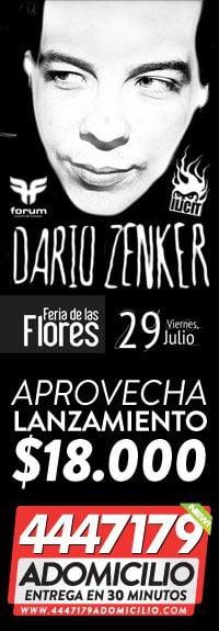 Dario Zenker Éste VIERNES 29 de Julio [ MUJERES GRATIS HASTA LA 1am ] Tickets 18.000 ADOMICILIO 4447179