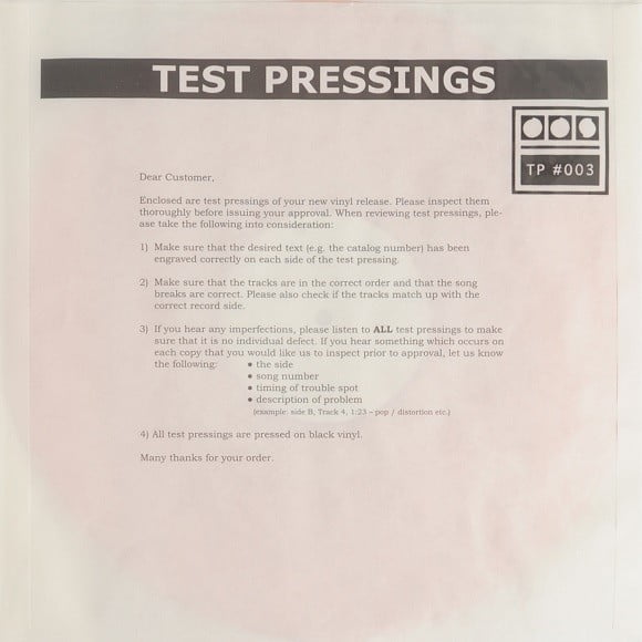 Demdike Stare - Testpressing#003