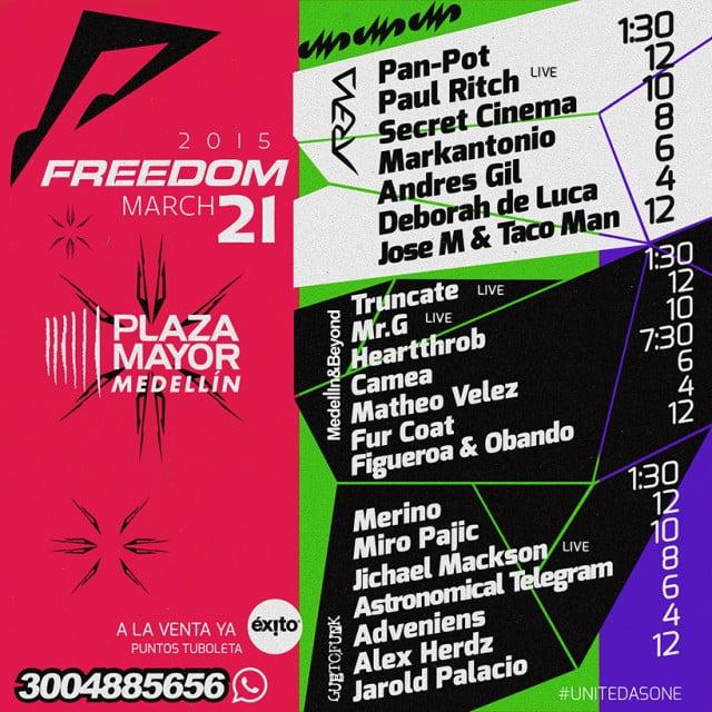 FREEDOM 2 0 1 5 FULL LINE UP !!!!!!