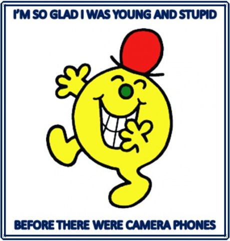 funny picture young stupid camera phones