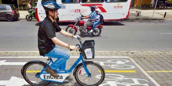El programa de bicicletas públicas EnCicla ha sido halonador del crecimiento de la cultura de la bicicleta en Medellín.