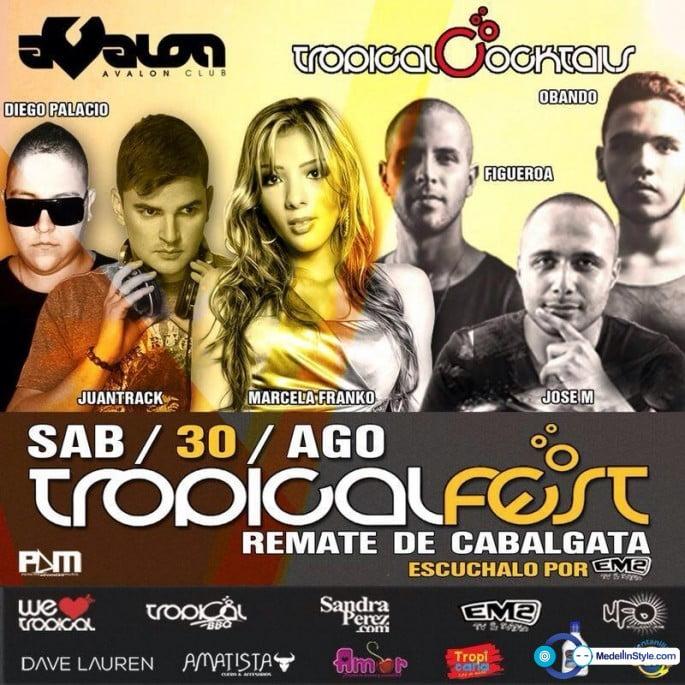 :: Sponsored :: Tropical Fest Pereira ¡ Remate de Cabalgata 30 de agosto @ En Avalon club