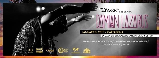 :: Sponsored :: Damian Lazarus éste 3 de Enero en Cartagena !!!