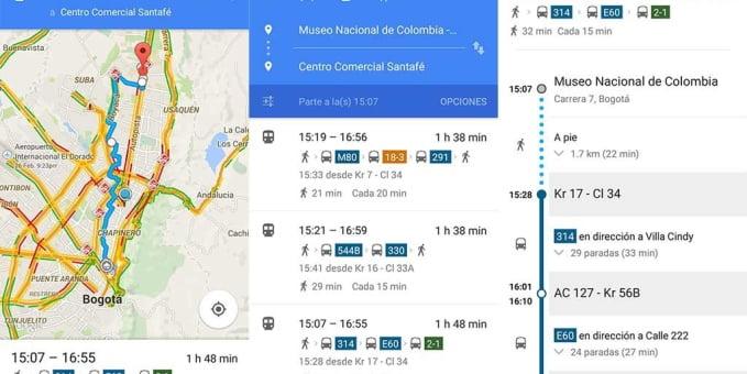 Google Transit: Metro de Medellín