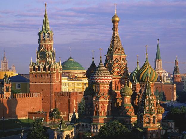 kremlin and st. basils