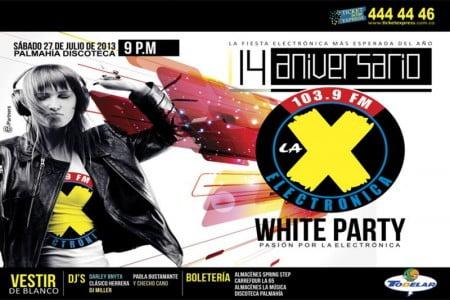 :: Sponsored :: Este Sábado el 14 aniversario de la X 103.9 en la Discoteca Palmahia
