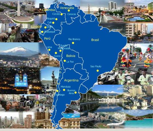 Qué BUS cojo para viajar a Perú, Ecuador, Venezuela, Bolivia, Brazil, Chile y Argentina?