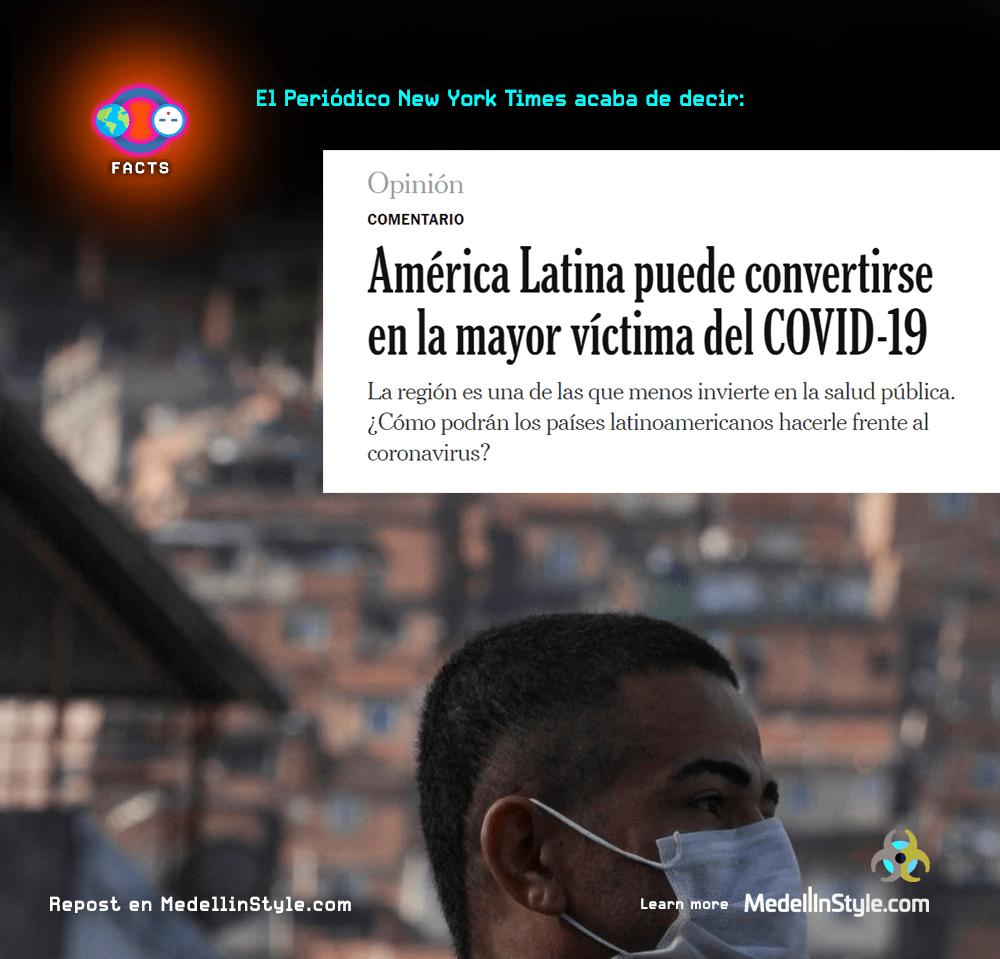 América Latina puede convertirse en la mayor víctima del COVID-19