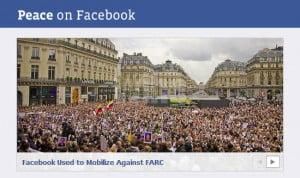 Facebook se une por la paz mundial en http://peace.facebook.com